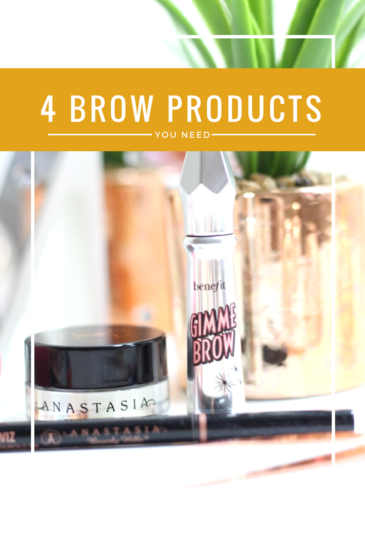 4 brow products you need