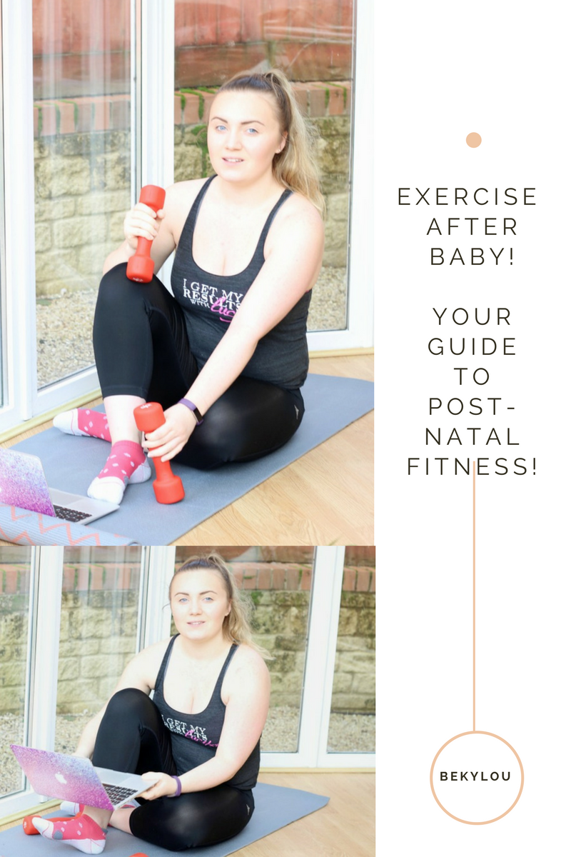 post-natal fitness exercise after baby with results with bump and results with lucy
