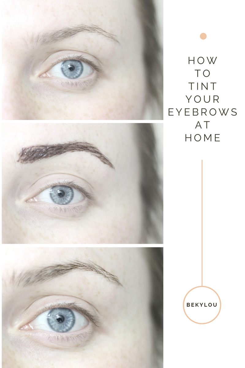 brow tint at home